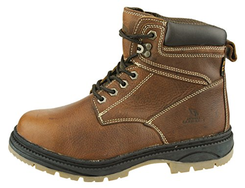 Rounded Lace Team Arizona Brown Boots Mens Leather Cardinals Steel Toe Options Work up NFL 6I15Uqwn