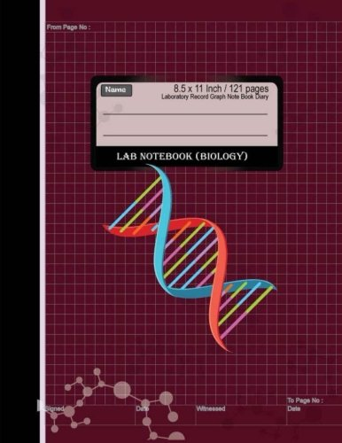 Lab Notebook  : Laboratory Record Graph Note Book Diary (Biology) 8.5