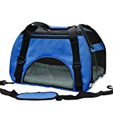 Pet Cuisine Breathable Soft-sided Pet Carrier, Cats Dogs Travel Crate Tote Portable Handbag Shoulder Bag Outdoor Dark Blue M