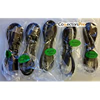 Pc Accessories - Connectors Pro 5-Pack 3 UNIVERSAL POWER CORD - 3 Feet IEC320 C13 to NEMA 5-15P CSA UL RoHS, 3 Ft 5-PK