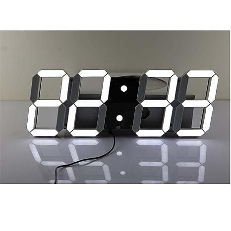 Uniqstore Control Remoto Jumbo Digital llevó el Reloj de Pared, Reloj LED de múltiples Funciones