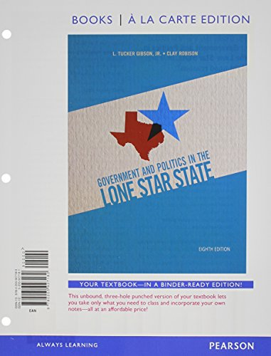 Government and Politics in the Lone Star State, Books a la Carte Plus MyPoliSciLab with eText -- Access Card Package (8t