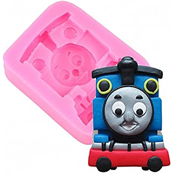 MoldFun Thomas Train Engine Silicone Mold for Sugar Craft, Gum Paste, Fondant, Cake Decorating, Polymer Clay