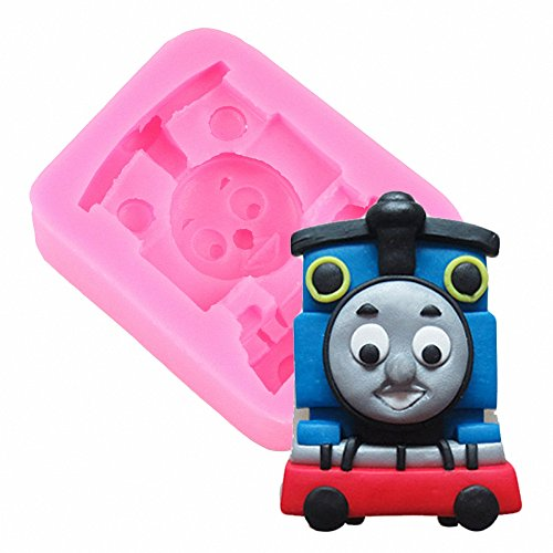 (MoldFun Thomas Train Engine Silicone Mold for Sugar Craft, Gum Paste, Fondant, Cake Decorating, Polymer)