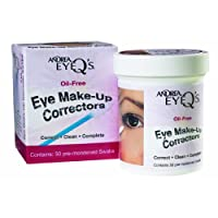Andrea Eyeq's Corrector de maquillaje de ojos sin aceite Esponjas prehumedecidas, 50 unidades