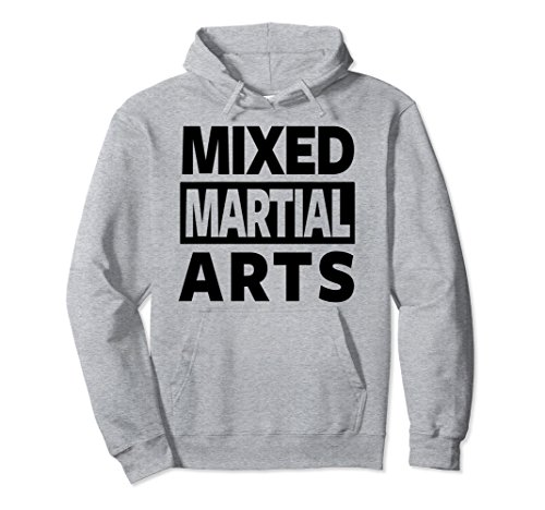 Unisex MMA HOODIE, MIXED MARTIAL ARTS HOODIE, MMA PULLOVER HOODIE Small Heather Grey