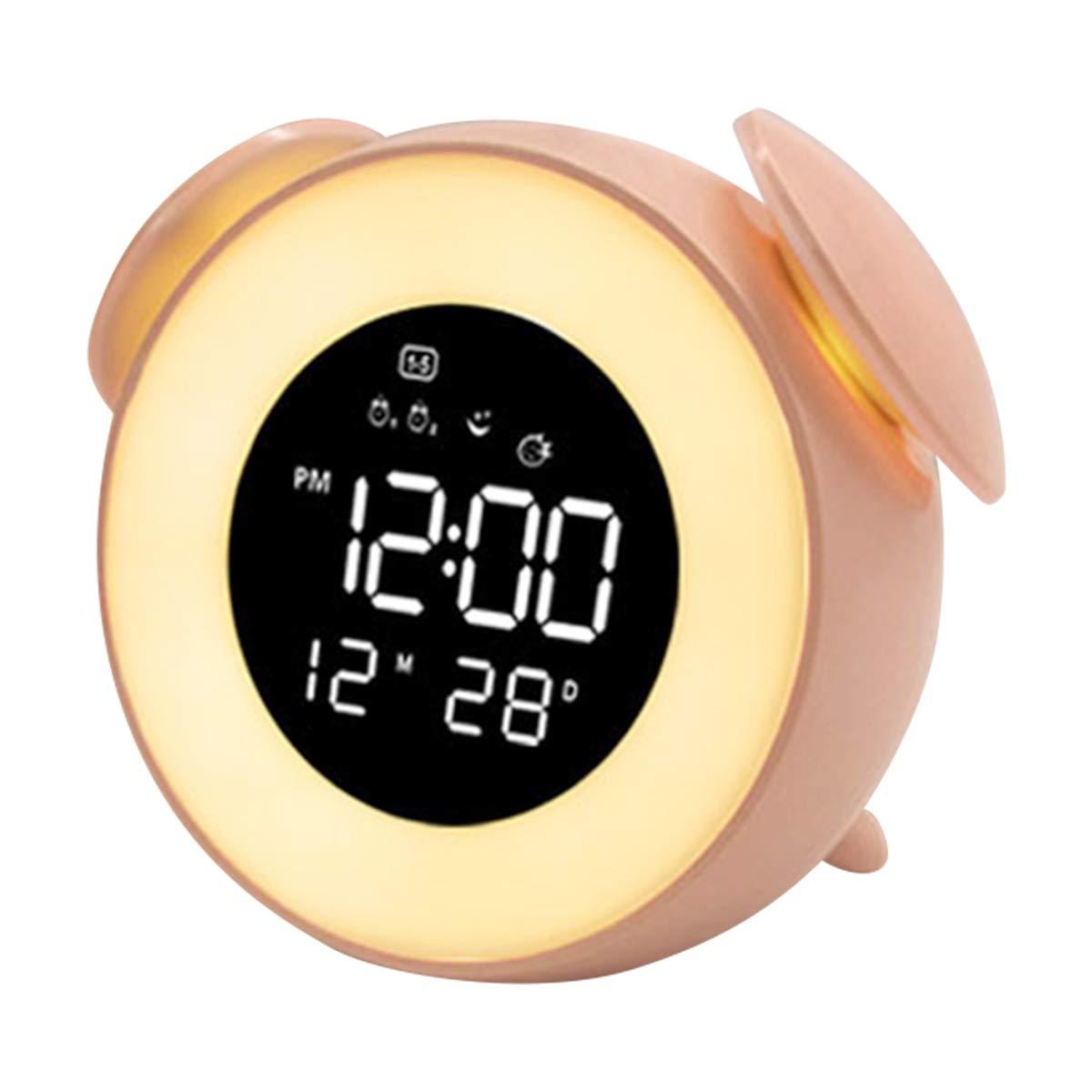 GZ HaiQianXin R/éveil num/érique LED Dimmable R/éveil Lumi/ère Sunrise Snooze Mode Lumi/ère de Chevet ambiant pour Les /étudiants employ/é de Bureau