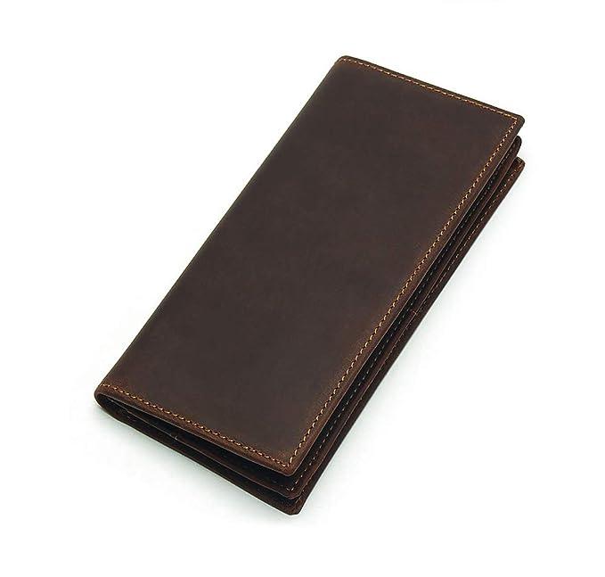 Amazon.com: LuUFAN billetera larga de cuero auténtico, con ...