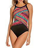 Miraclesuit Women's Color Block Night Light One-Piece (10, Multi)