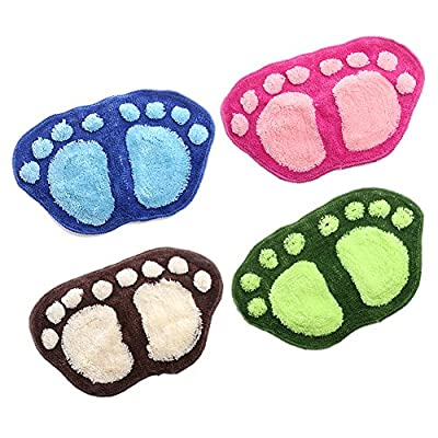 "Ladaidra Feet Shape Mat, Cute Soft Comfortable Washable Cushion 23.03"" x 15.16"" Pack of 4"
