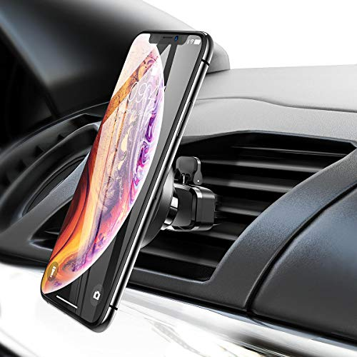 Magnetic Car Phone Mount, Magnetic Cell Phone Holder for Car Air Vent Hand Free Universal Car Phone Holder Compatible with iPhone XS/X/8/7/7P/6s/6P, Galaxy S9/S8/S7/S6, Google Pixel, LG, by Ainope