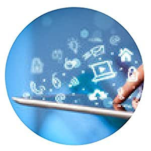 alfombrilla de ratón Señalar con el dedo en el PC tableta, el concepto de medios de comunicación social - ronda - 20cm
