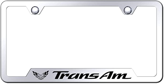 Pontiac Logo Bright Mirror Chrome License Plate Frame Tag Stainless Steel
