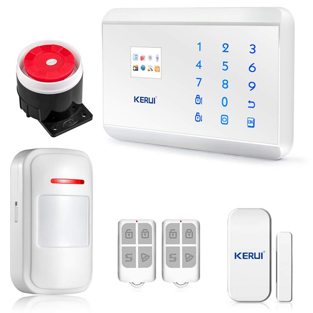 Kerui – Kit antirrobo de caravana y autocaravana 8218G, alarma inalámbrica con teclado telefónico GSM PSTN/RTC