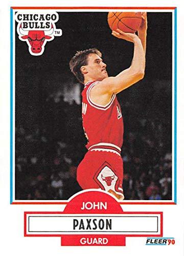 1990-91 Fleer Basketball #28 John Paxson Chicago Bulls Official NBA Trading Card