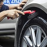 Whenear Sponge Brush Wax Applicator Auto Tire Dressing Applicator Brush with Handle Car Interior Wheel Rim Brush Kit Washing Cleaner Keeping Saving Car Detailing Brush, Car Necessities Superb