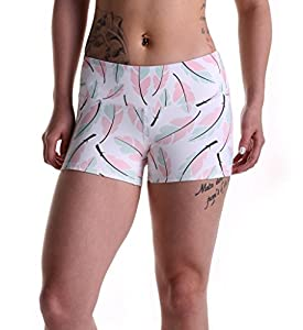 """Tough Mode Womens 3"""" Compression WOD Athletic Shorts Yoga Volleyball Crossfit Running MMA Active Booty Black Red Blue Green"""