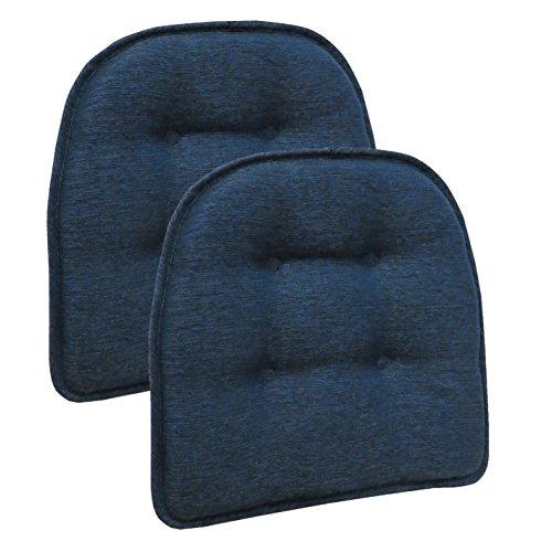 (Klear Vu Omega Upholstered Chair Cushion Pads, Gripper No Slip Chairpad, 16