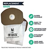 Think Crucial Replacement Vacuum Bag – Compatible with Eureka Part # 62370, B352-2500 – Fits Models Eureka BV-2, Sanitaire, Backpack, Carpet Pro, Piranha, Tornado – Bulk