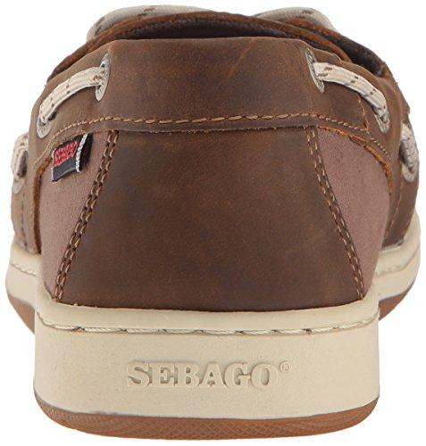 Sebago Kvinna Maleah Två Öga Båt Sko Mörkbrunt Läder