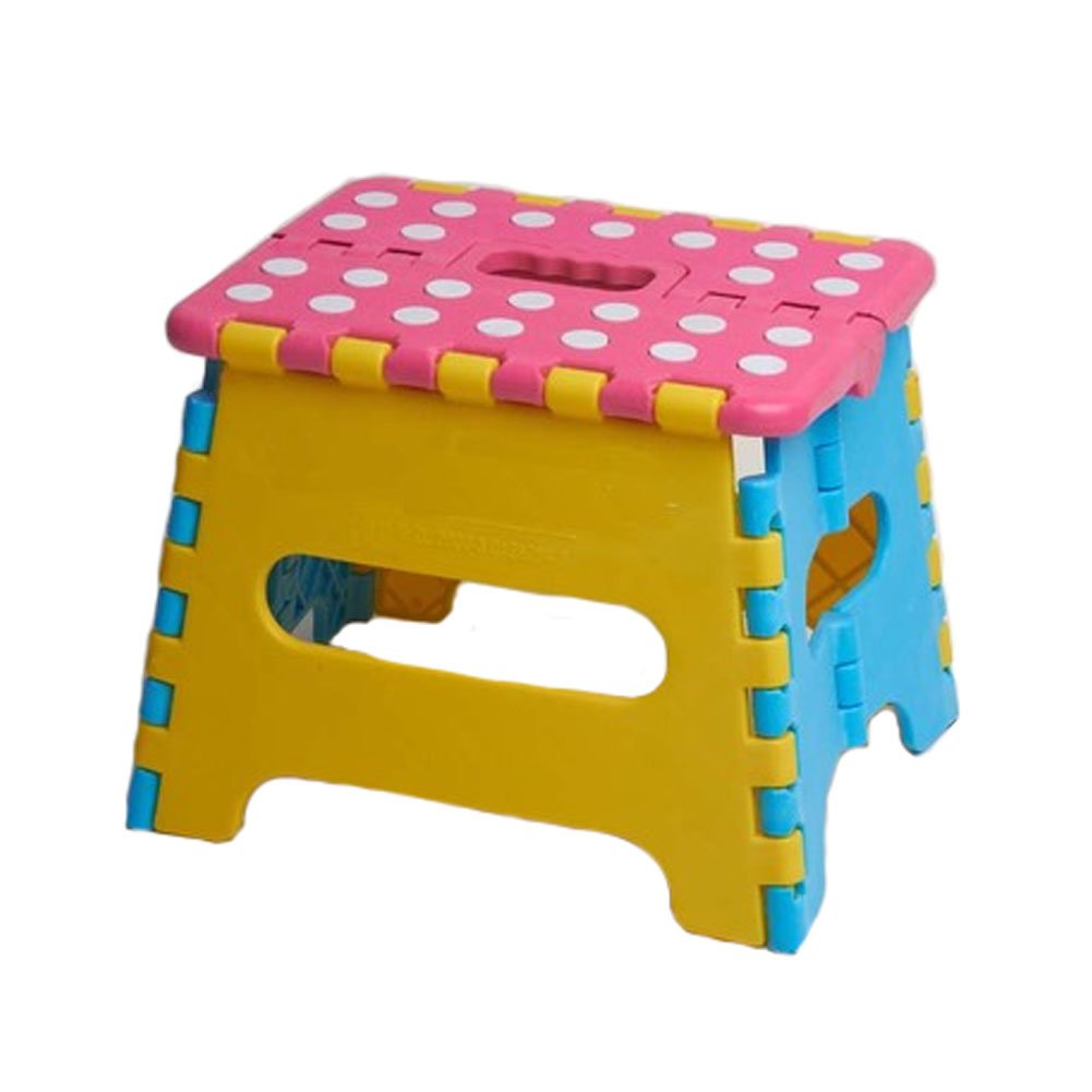 Plastic Foldable Step Stool Folding Stools Stepstool for Kids & Adults - Pink Kylin Express