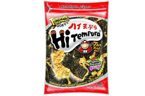 Price comparison product image Hi Tempura (Tempura Seaweed Spicy Flavor) - 1.41oz (Pack of 6) by Tao Kae Noi