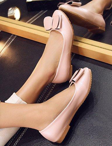 casual de pink 5 plano redonda piel vestido sintética us5 eu36 PDX negro mujer rosa comodidad punta talón Flats 5 uk3 cn35 zapatos de OWUwaxgd