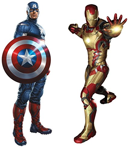 Marvel Superheroes Avengers Comic - Civil Wars - Captain America vs Iron-Man Giant Wall Decal Sticker - Wall Sticker Fathead