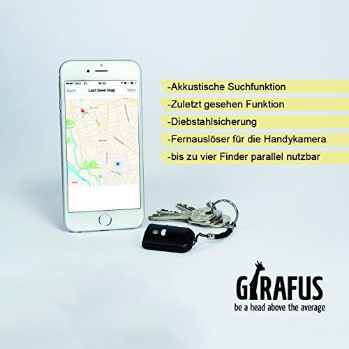 Schlüsselfinder Handy-finder mit App & Karte Alles-finden für iPhone & Android mit Girafus® Smart Finder Vereinfachen Sie Ihr Leben - Sparen Sie Zeit und Nerven! Bluetooth Key Finder