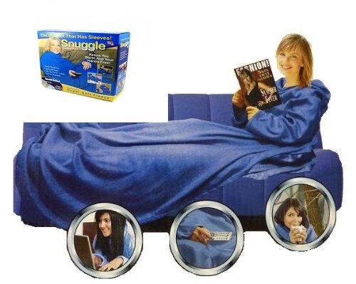 Snuggle BATAMANTA con Mangas para EL Sofa Sillon,Manta para EL Frio, ANUNCIADO EN TV (Azul)