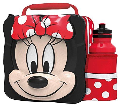 Kids Children Insulated 3D Lunch Bag Box And Drink Sport Water Bottle Set (Minnie (Drink Case)