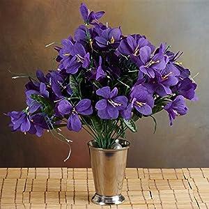 144 Wholesale Artificial Silk Amaryllis Flowers Wedding Vase Centerpiece Decor - Purple 112