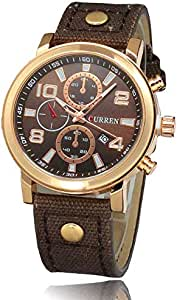 Curren Casual Watch For Men Analog Leather - 8199