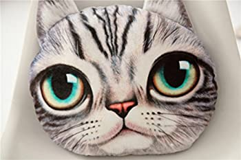 XY 3D Effect Lovely Plush Cat Pillow Car Sofa Chair Back Cushion Home Decoration