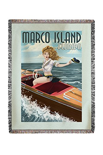 Lantern Press Marco Island, Florida - Pinup Girl Boating for sale  Delivered anywhere in USA
