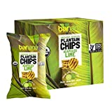Barnana Organic Plantain Chips - Acapulco Lime - 5 Ounce, 8 Pack Plantains - Barnana Salty, Crunchy, Thick Sliced Snack - Best Chip For Your Everyday Life - Cooked in Premium Coconut Oil