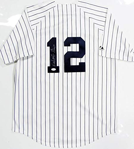 (Wade Boggs Autographed New York Yankees P/S Majestic Jersey W/WS Champs- JSA W Auth 1)