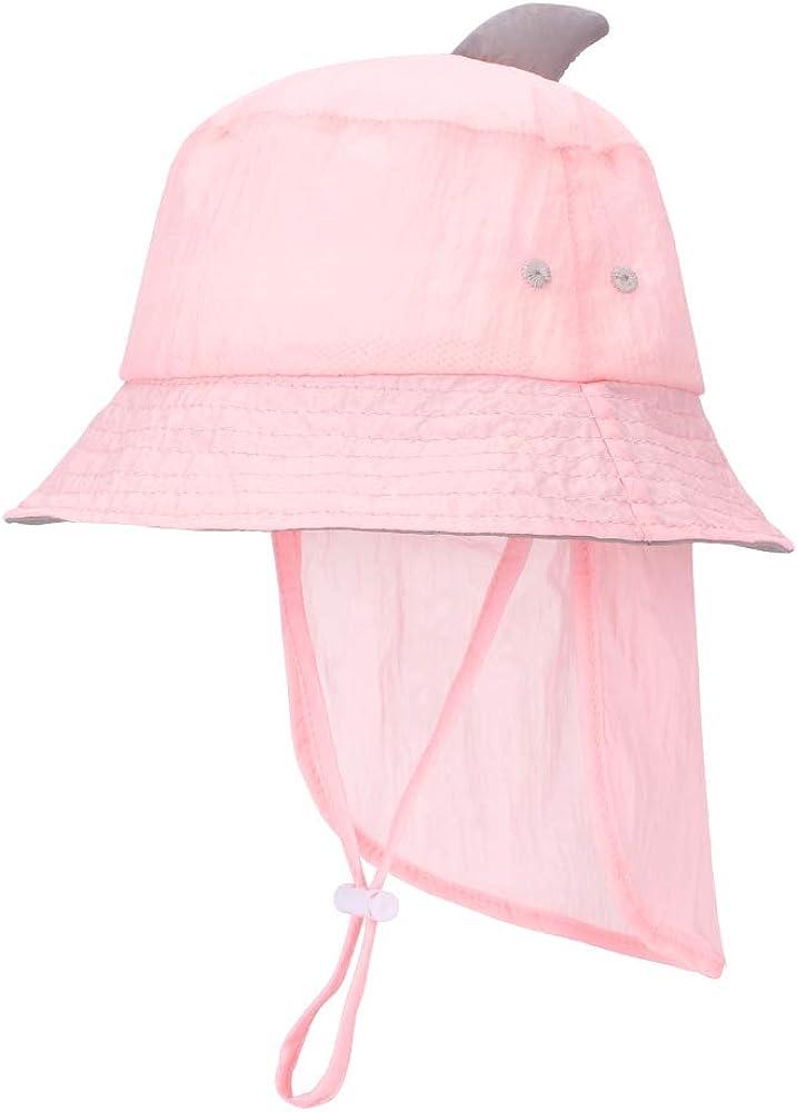 MK MATT KEELY Unisex Baby Multifunctional Hat Foldable Kids Sun Hat Toddler Bucket Hats with Detachable Neck Flap