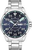 H64715145 Hamilton KHAKI AVIATION PILOT AUTO Mens Watch Black Dial SS Bracelet