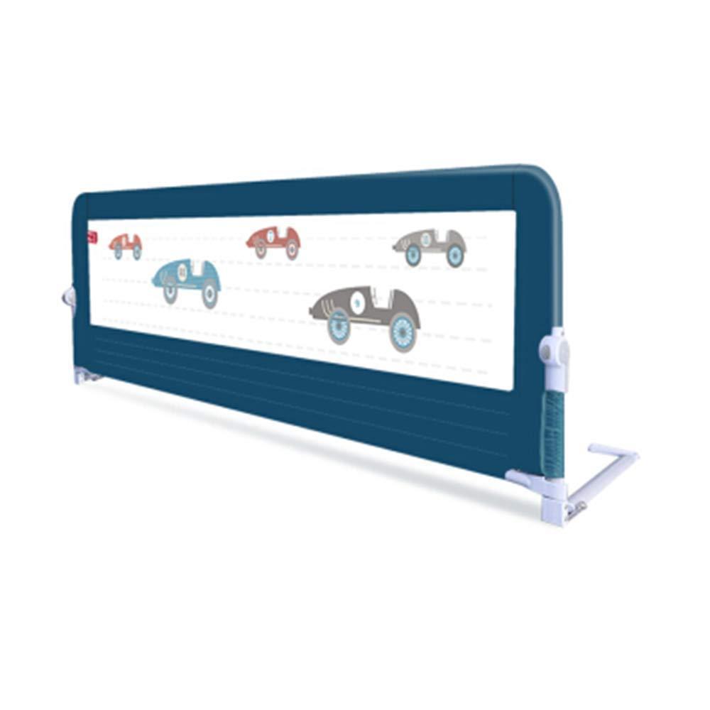 HUO ベッドガードレールベビーチャイルドベッドフェンスフェンスベッドバッフル折り畳み式ユニバーサル 省スペース (色 : 青, サイズ さいず : 150cm) 150cm 青 B07GHG979S