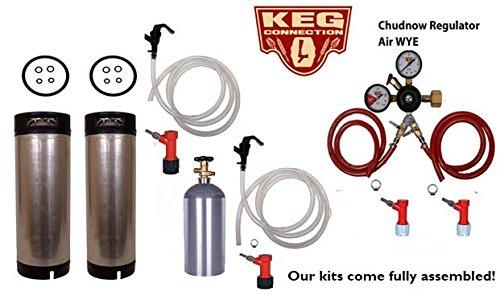 Two Tap Basic Home Brew Kegerator Kit, Pin Lock, Chudnow WYE,d Regulator