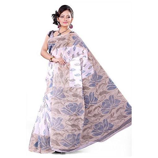 E-VASTRAM Women Gadwal Printed Saree (GPC Beige)