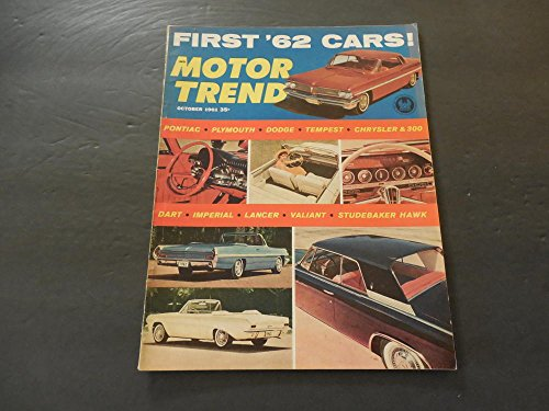 Motor Trend Oct 1961 Dart, Imperial, Lancer, Valiant, Studebaker (Valiant Dart)