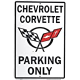 Hangtime Chevrolet Corvette Parking only Metal Sign