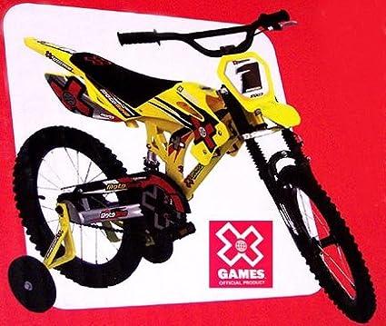 Amazon Com X Games Motobike Bmx 16 Inch Childrens Bicycles Sports Outdoors