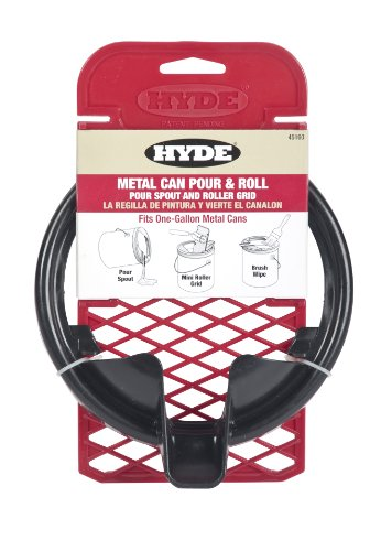 Hyde 45160 Metal Can Pour and Roll, Pour Spout and Roller Grid, Fits 1 Gallon Cans ()