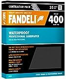 """Fandeli 36001 400 Grit Waterproof Sandpaper Sheets, 9""""  x 11"""", 25-Sheet"""