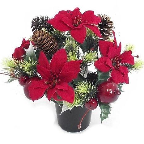 Stella Di Natale Artificiale.Vaso Natalizio Con Stella Di Natale Artificiale Colore
