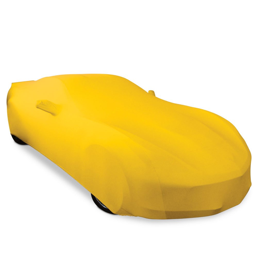 2014-2019 C7 Stingray Z06 Yellow Grand Sport Corvette Ultraguard Stretch Satin Indoor Car Cover Z51