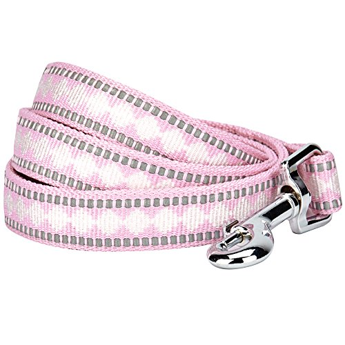 - Blueberry Pet 7 Colors 3M Reflective Jacquard Dog Leash with Soft & Comfortable Handle, 5 ft x 5/8